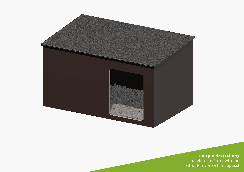 Peregrine falcon nest box