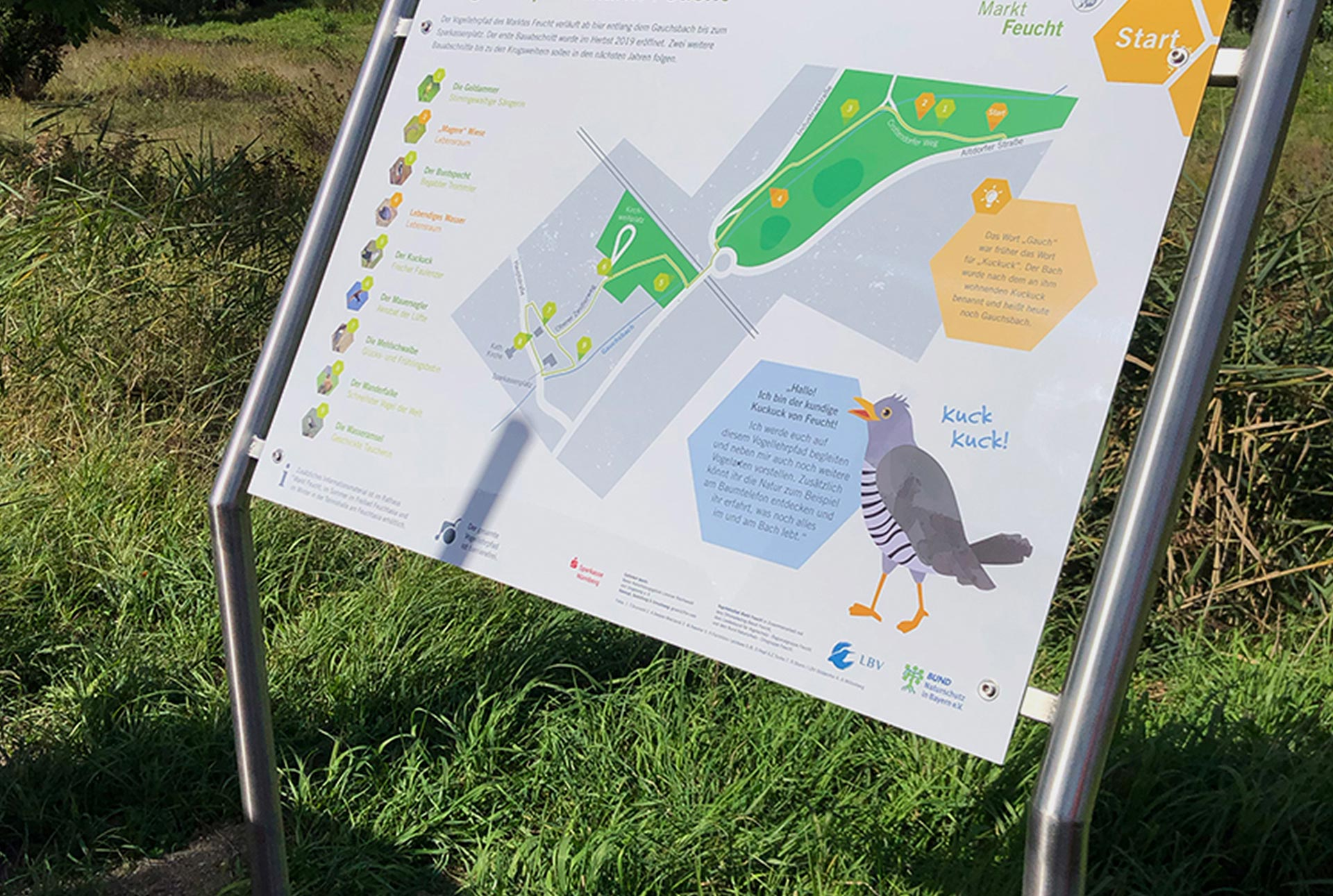 Information boards for nature trails
